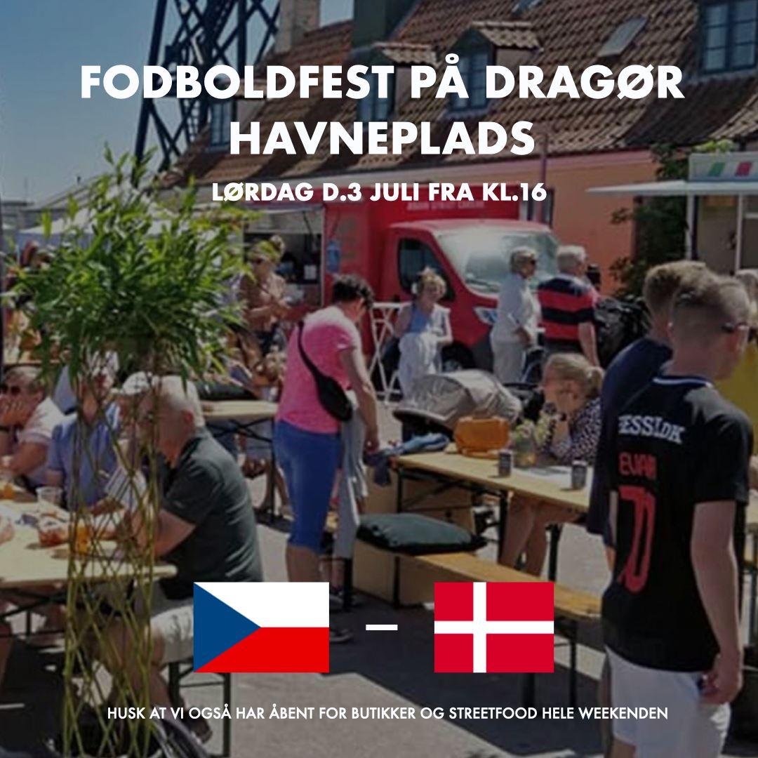 FODBOLDFEST PÅ DRAGØR HAVNEPLADS LØRDAG 3/7-2021